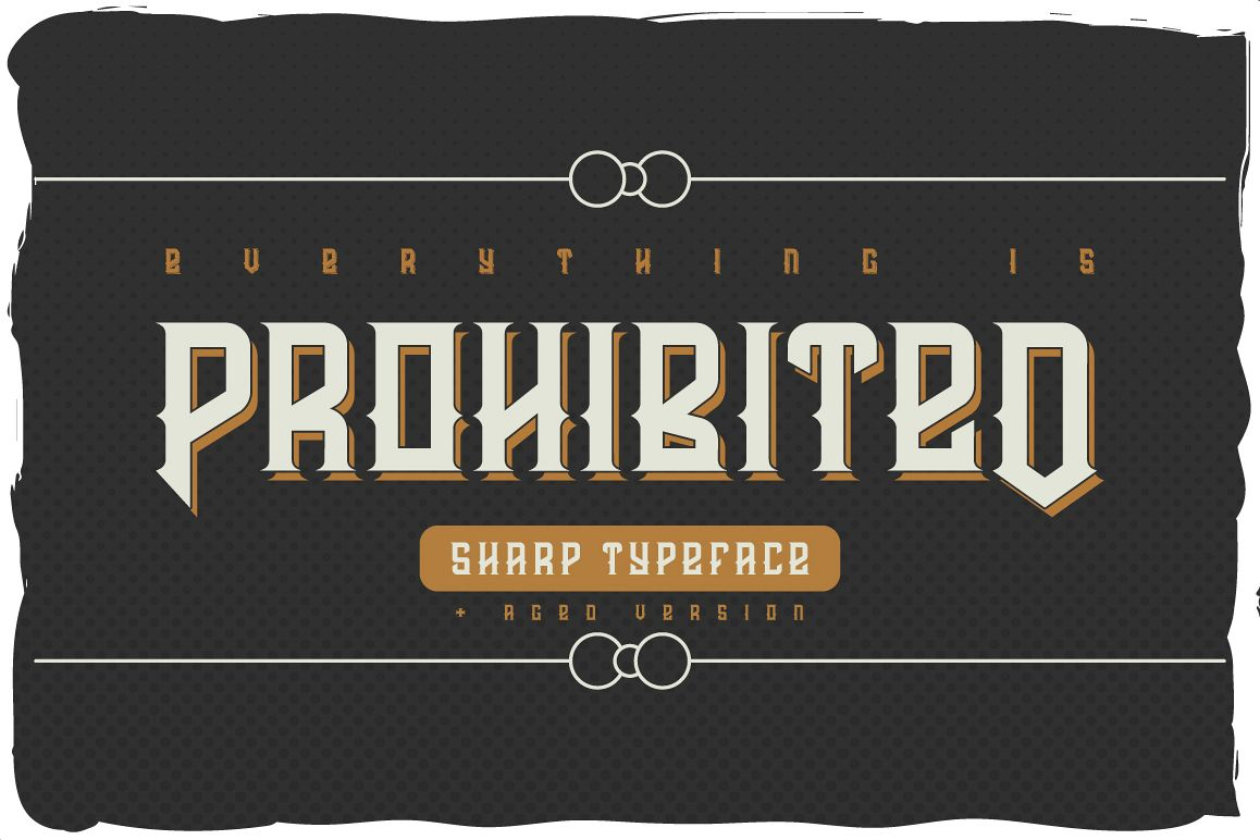 Prohibited typeface example image 1