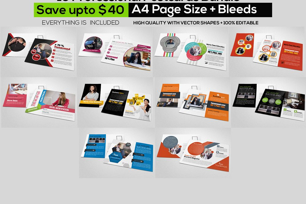10 Business Postcards Bundle example image 1