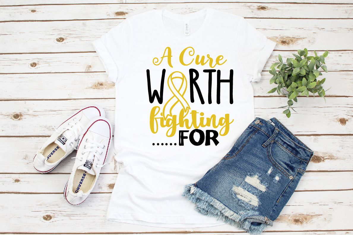 A Cure Worth Fighting for SVG, DXF, Childhood Cancer example image 1