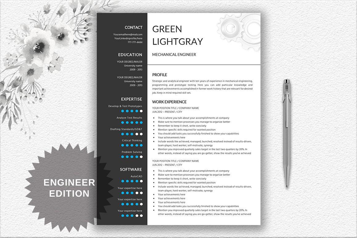 Resume Template Engineer example image 1
