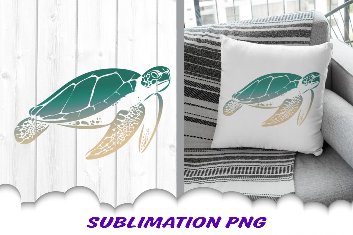 Sea Turtle Sublimation PNG Design example image 1
