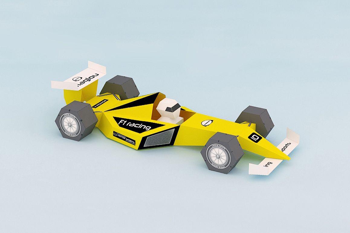 DIY F1 Car - 3d papercraft example image 1