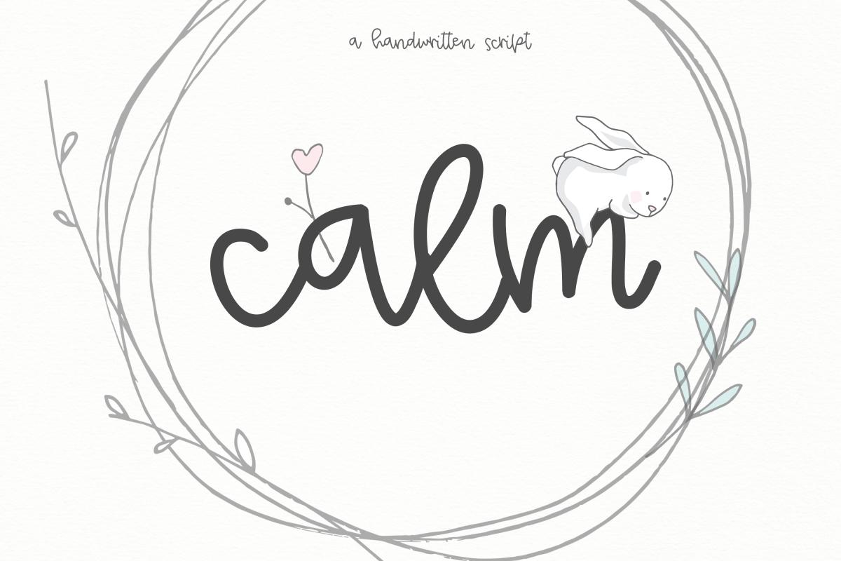 Calm - A Handwritten Script Font example image 1
