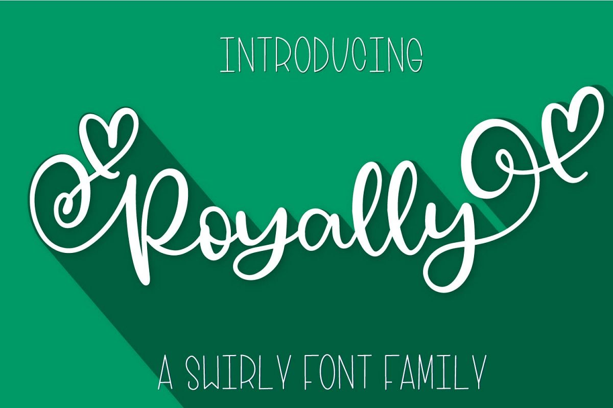 Royally - A Hand Lettered Font Script with Heart Swashes example image 1