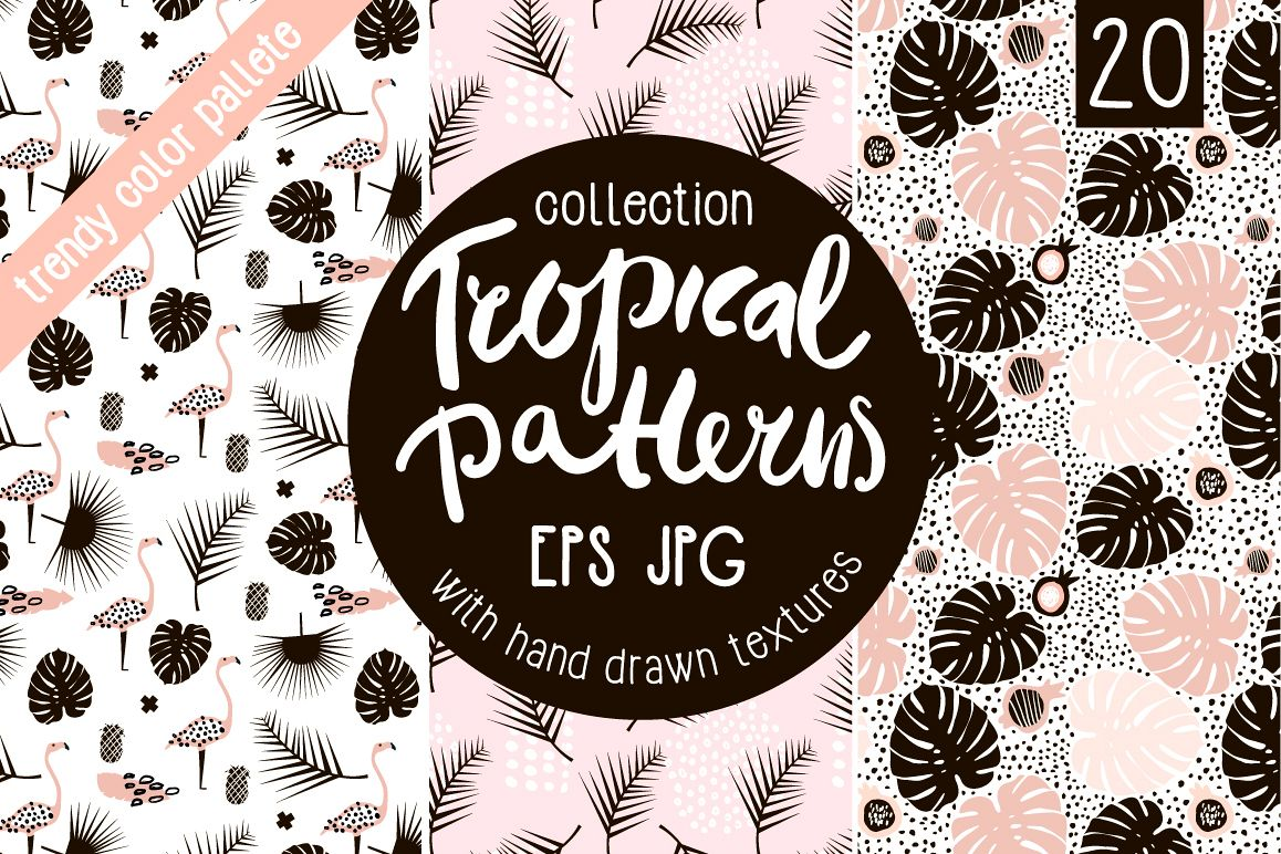 TROPICAL PATTERNS SET example image 1