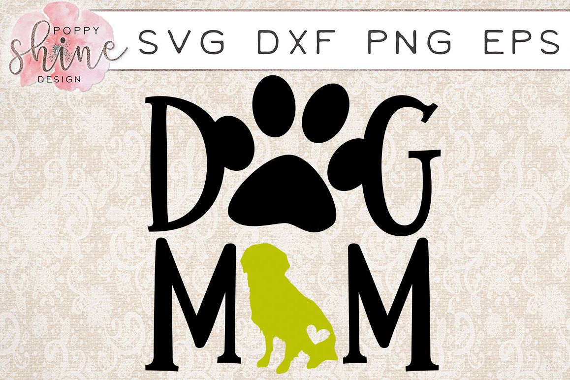 Dog Mom Golden Retriever SVG PNG EPS DXF Cutting Files example image 1