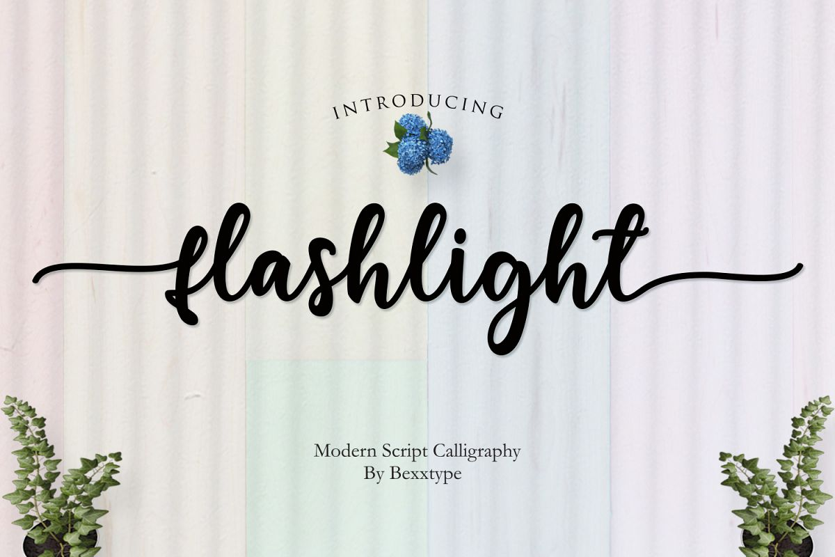 NEW Flashlight Script | Calligraphy example image 1