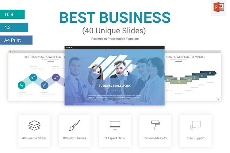 best business powerpoint presentation template