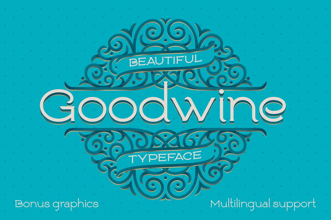 Goodwine Font, Label, Mockup example image 1