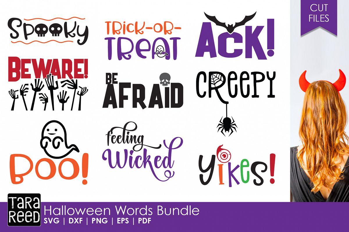 halloween words bundle example image 1