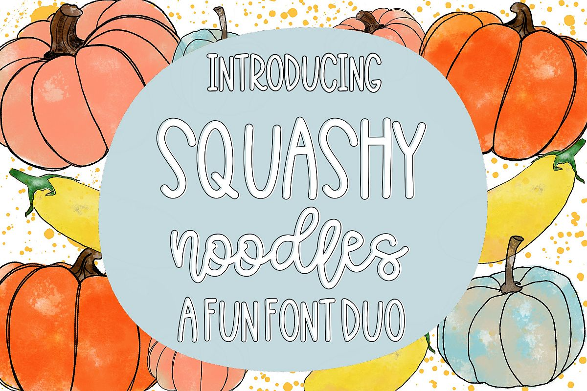 Squashy Noodles - A Fun Font Duo example image 1