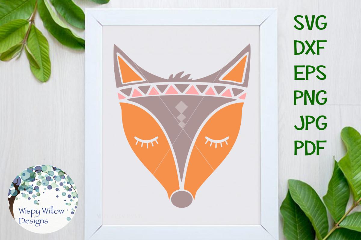 Boho Fox SVG example image 1