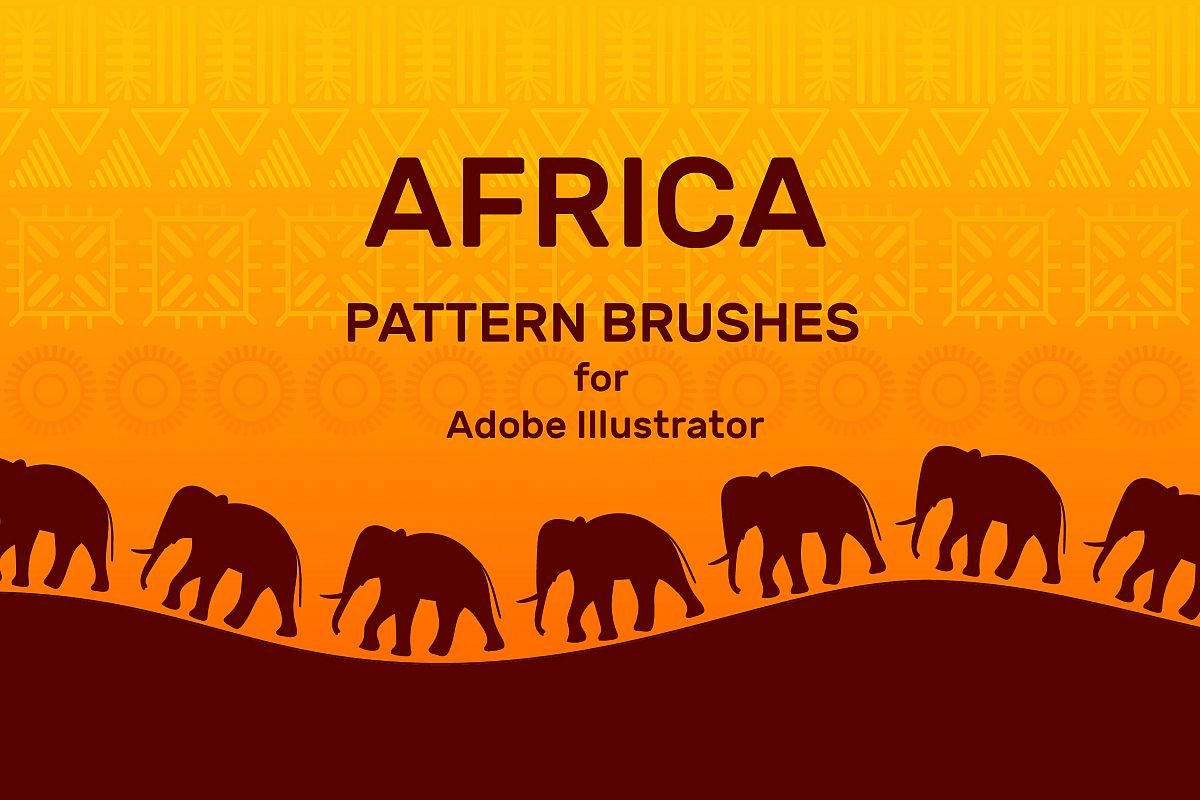 Africa Pattern Brushes for Illustrator example image 1