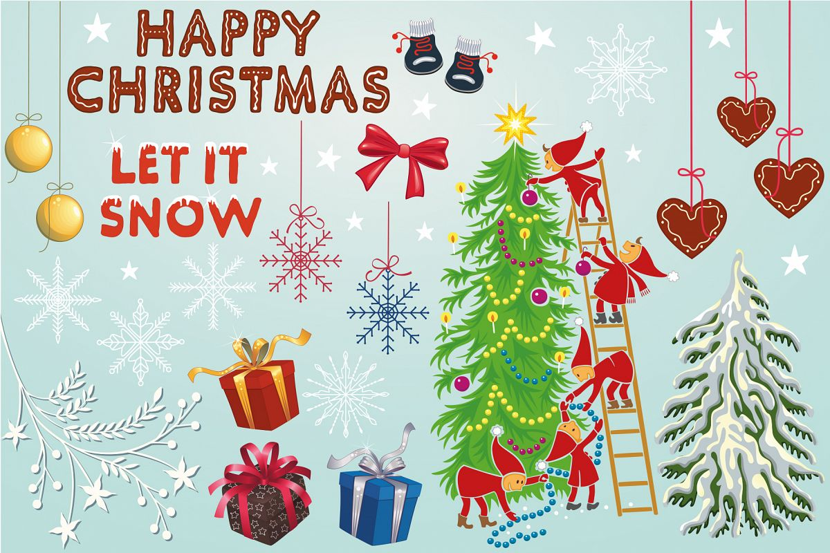 Christmas Clip-art Collection example image 1
