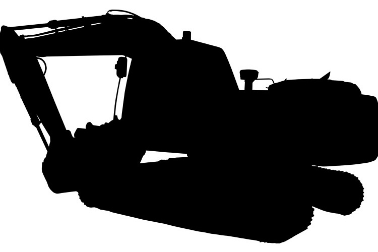 construction mechanical digger excavator silhouette example image 1