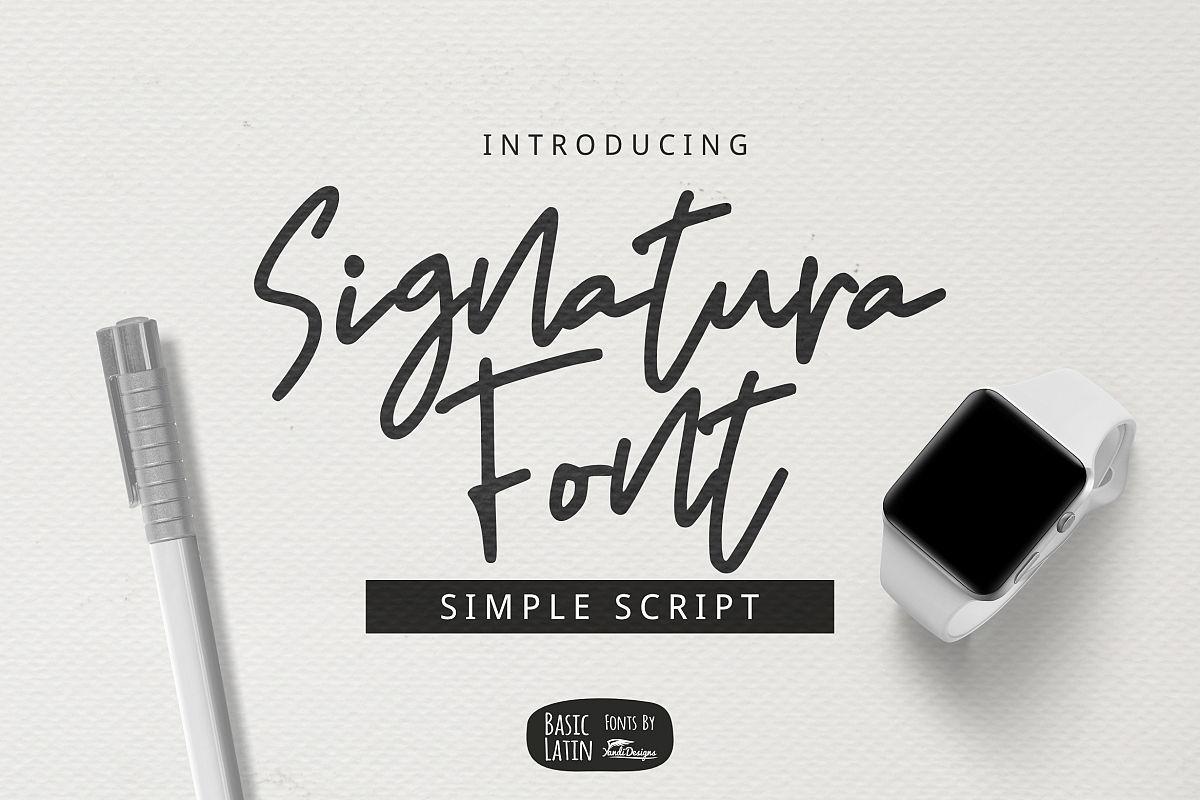 Signatura Font example image 1