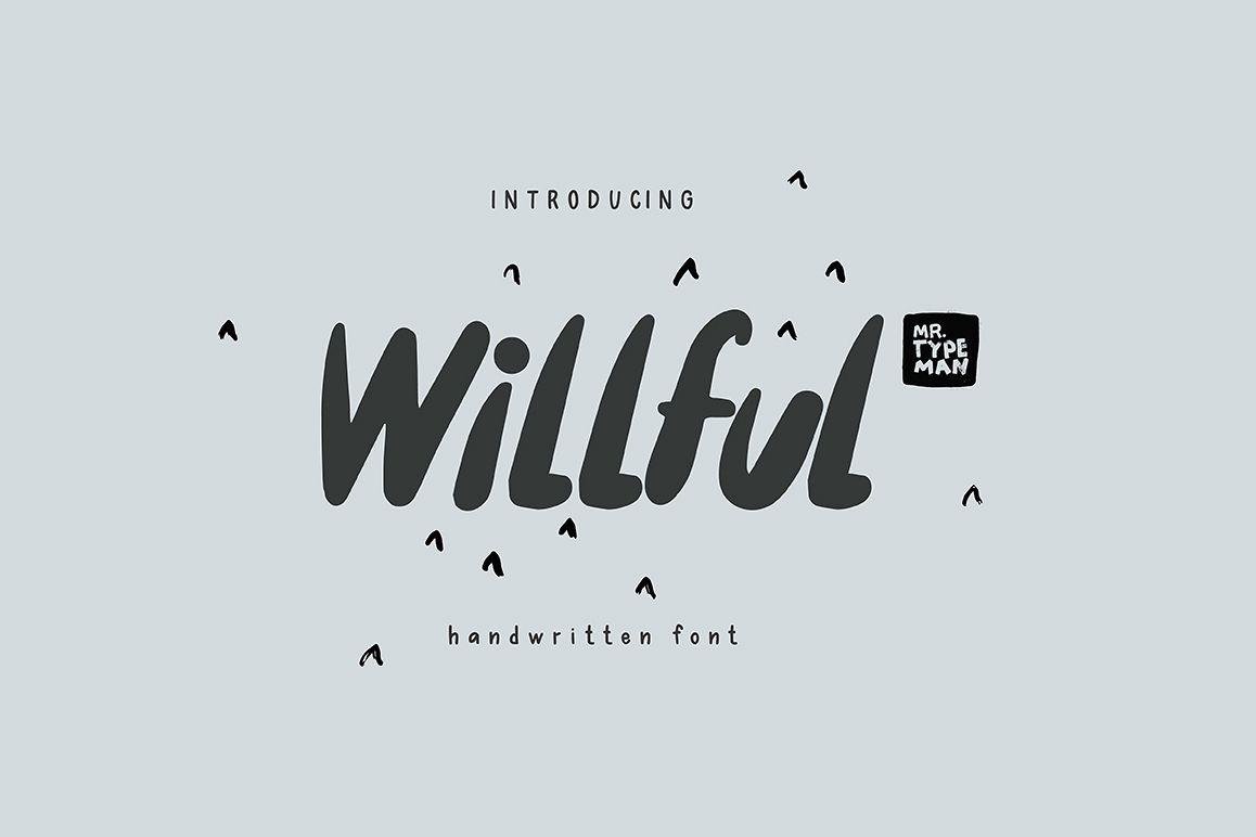 Willful Handwritten Brush Font example image 1