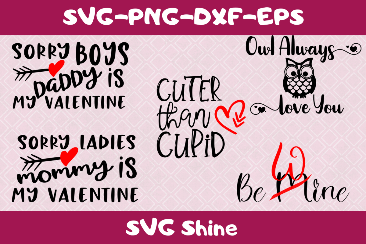 Valentines Day SVG Quote Bundle | Cute Quotes