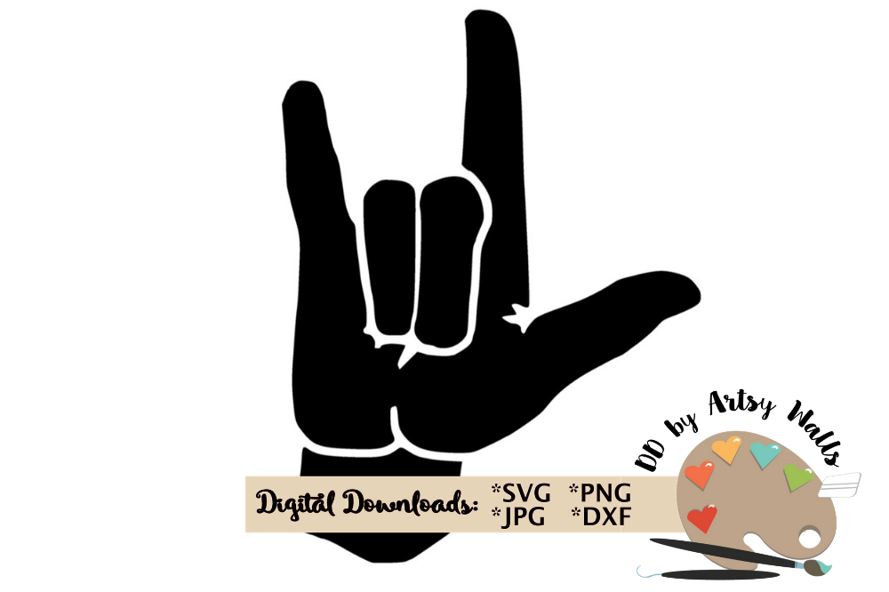 Download I love you american sign language svg file clipart asl Love