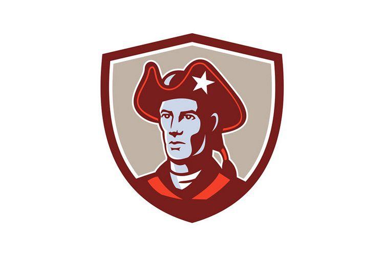American Patriot Minuteman Head Crest Retro example image 1