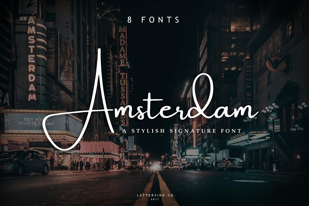Amsterdam Font Collection | UPDATE 8 Fonts example image 1