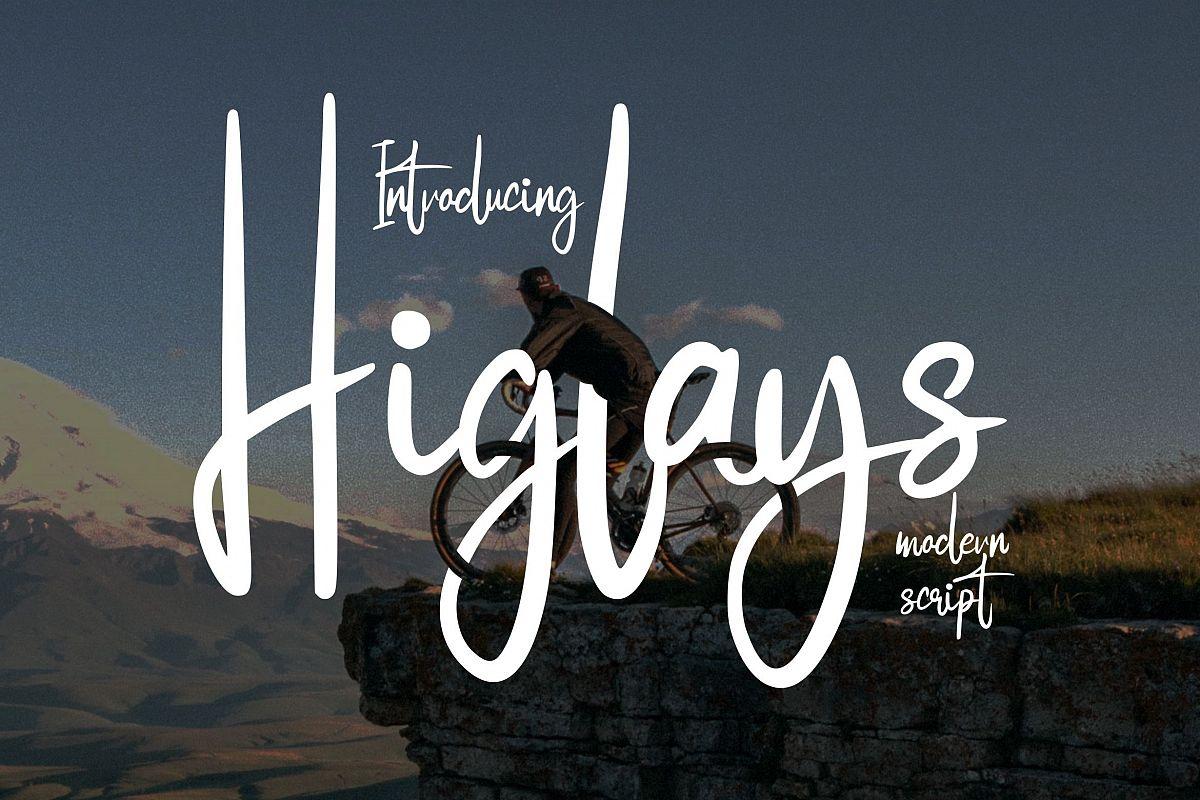 Higlays | Modern Script Font example image 1