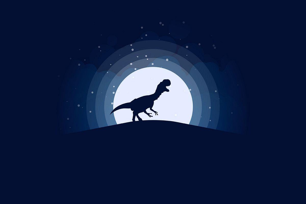 TRex Jurassic Night Scene Illustration example image 1