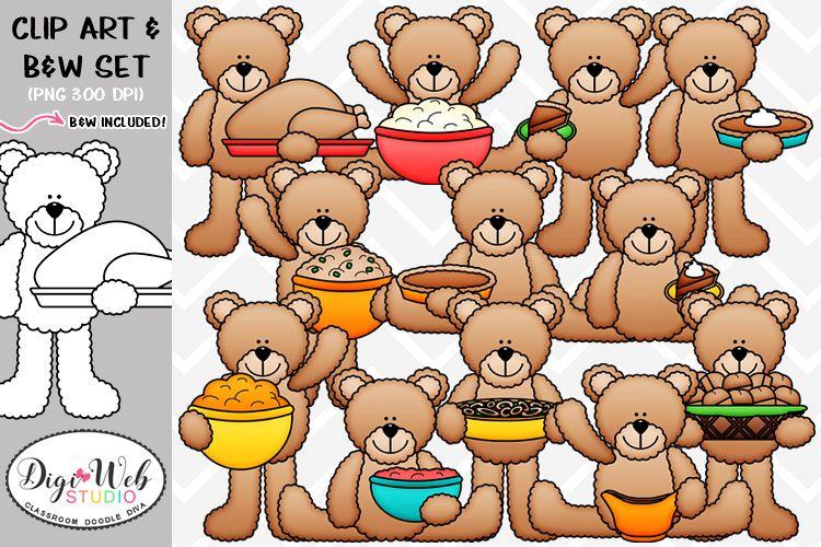 Clip Art / Illustrations - Thanksgiving Teddy Bears example image 1