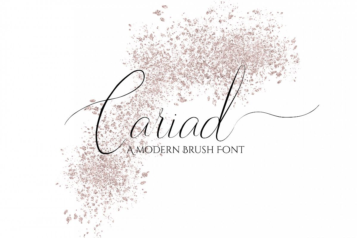 Cariad - A modern Script Font example image 1