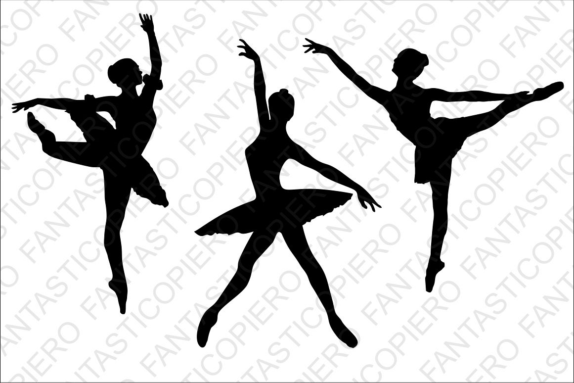 Classic, modern dancers SVG files for Silhouette and Cricut. example image 1