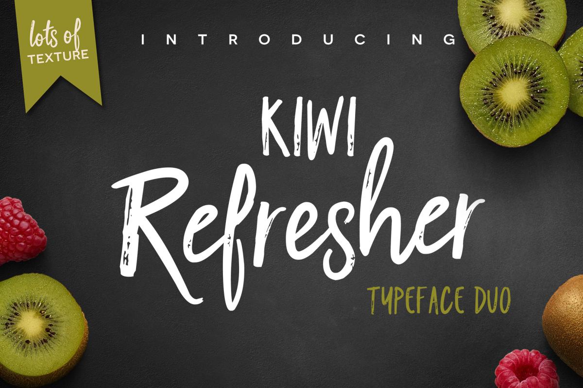 Kiwi Refresher Font Duo example image 1