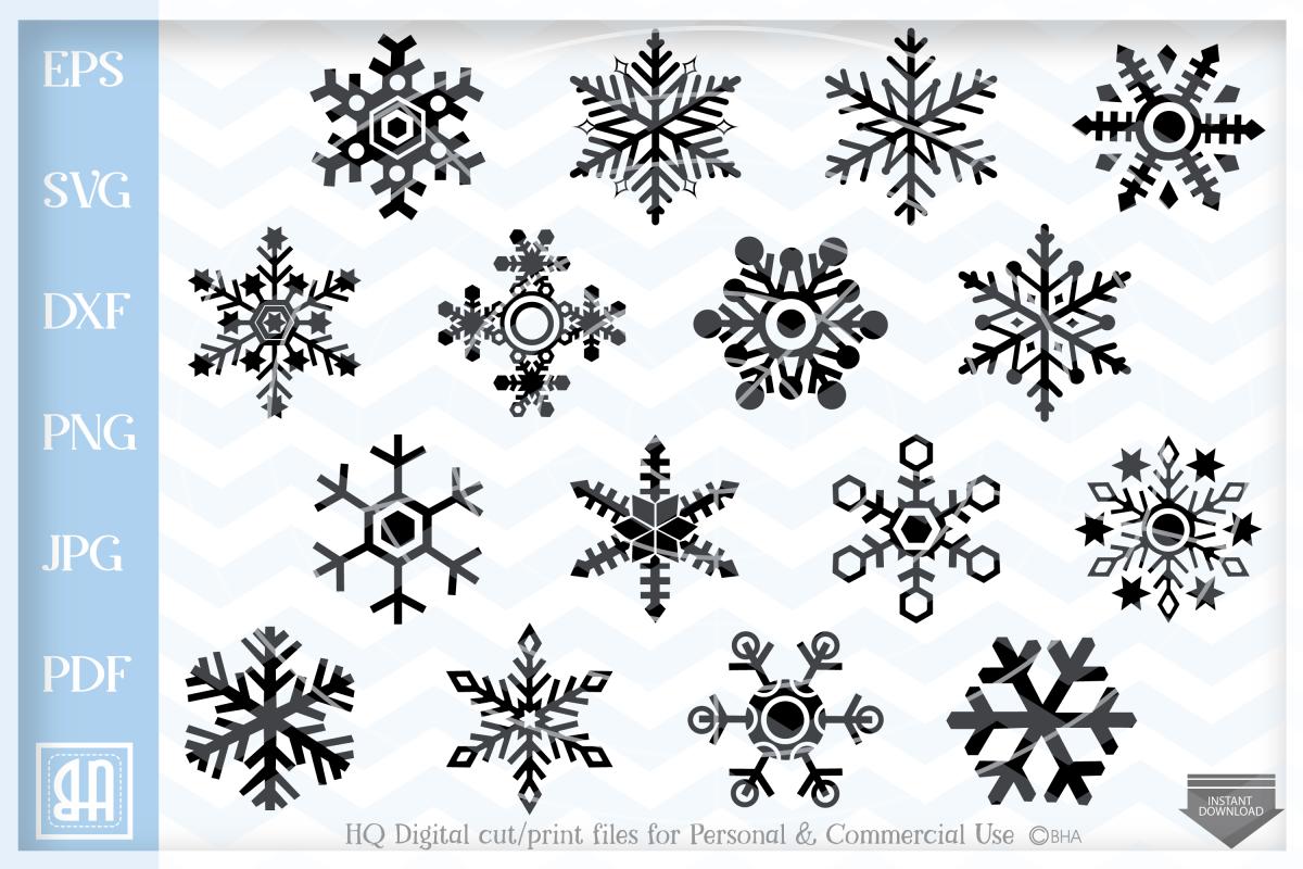 Snowflakes Svg - Snowflake SVG - Christmas bundle SVG example image 1
