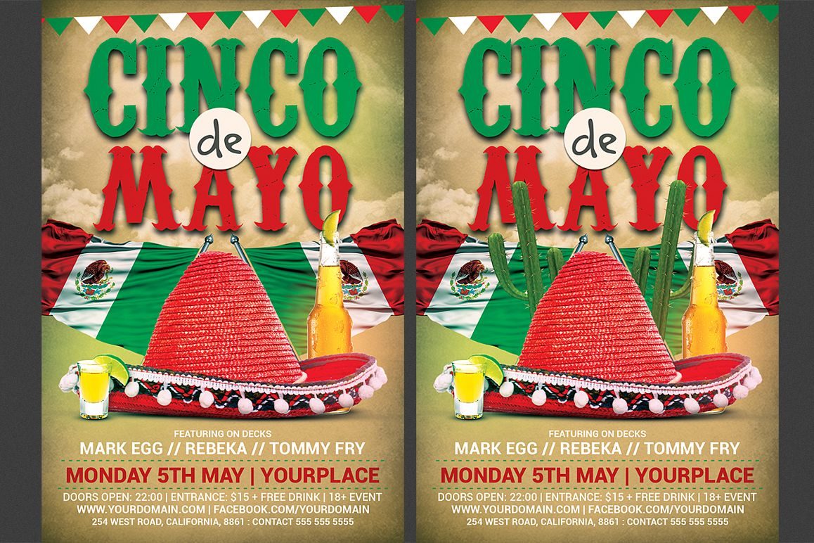 Cinco De Mayo Flyer example image 1