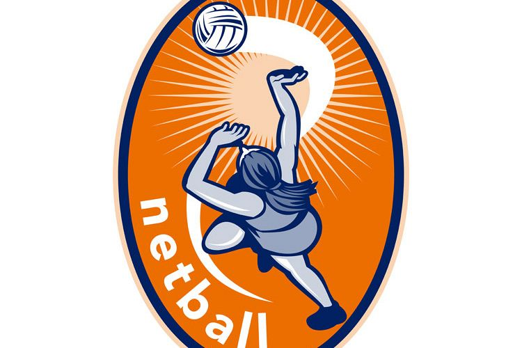 Netball player rebounding ball example image 1