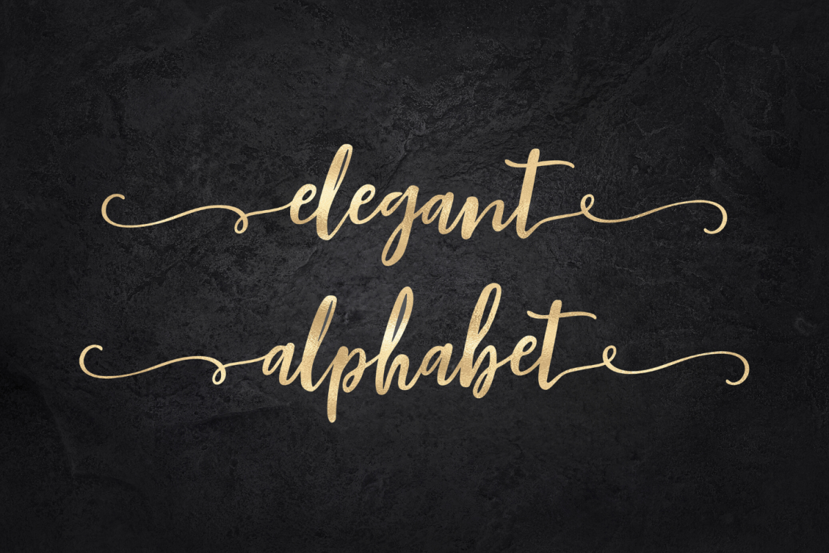 Gold alphabet clipart, Mettalic letters, Wedding fonts example image 1