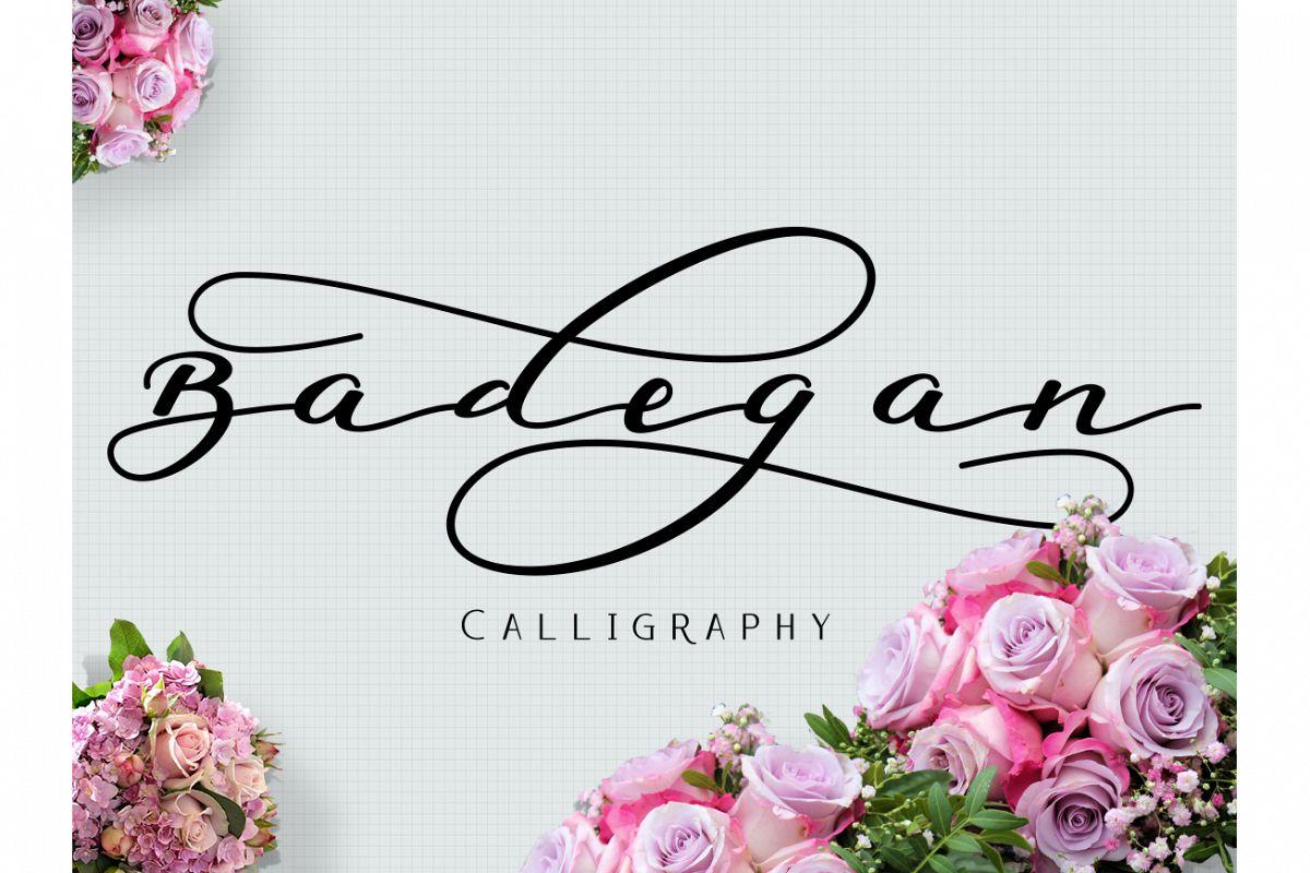 Badegan Calligraphy example image 1
