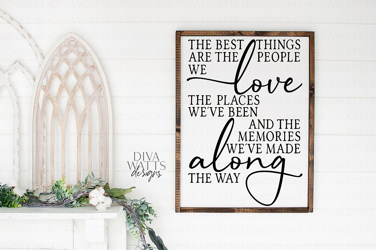 The Best Things In Life Are The People We Love - SVG File example image 1