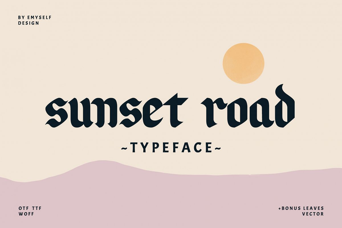 Sunset Road Typeface example image 1