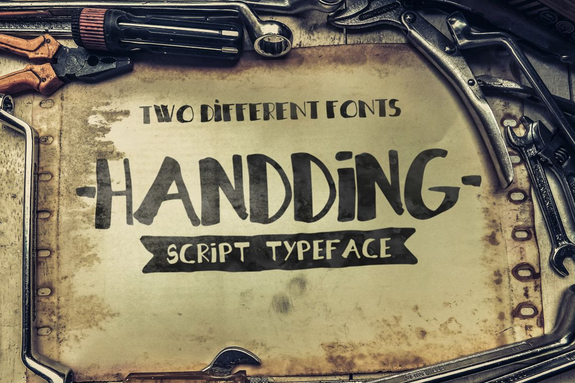 Handding Script [2 Different Fonts] example image 1
