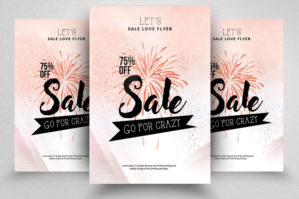 Sale Offer Typography Flyer example image 1