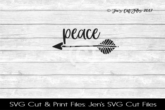 Peace SVG Cut File example image
