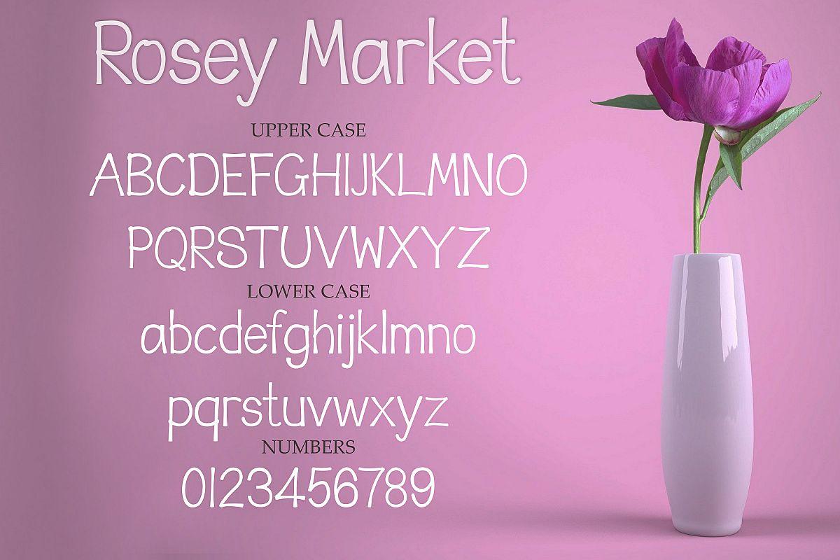 Rosey Market - a fun handwritten font example image 1