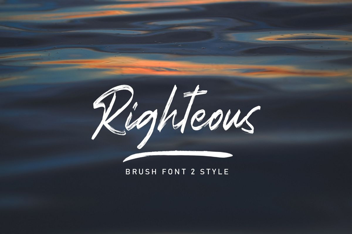 Righteous Handwritten Typeface Brush example image 1