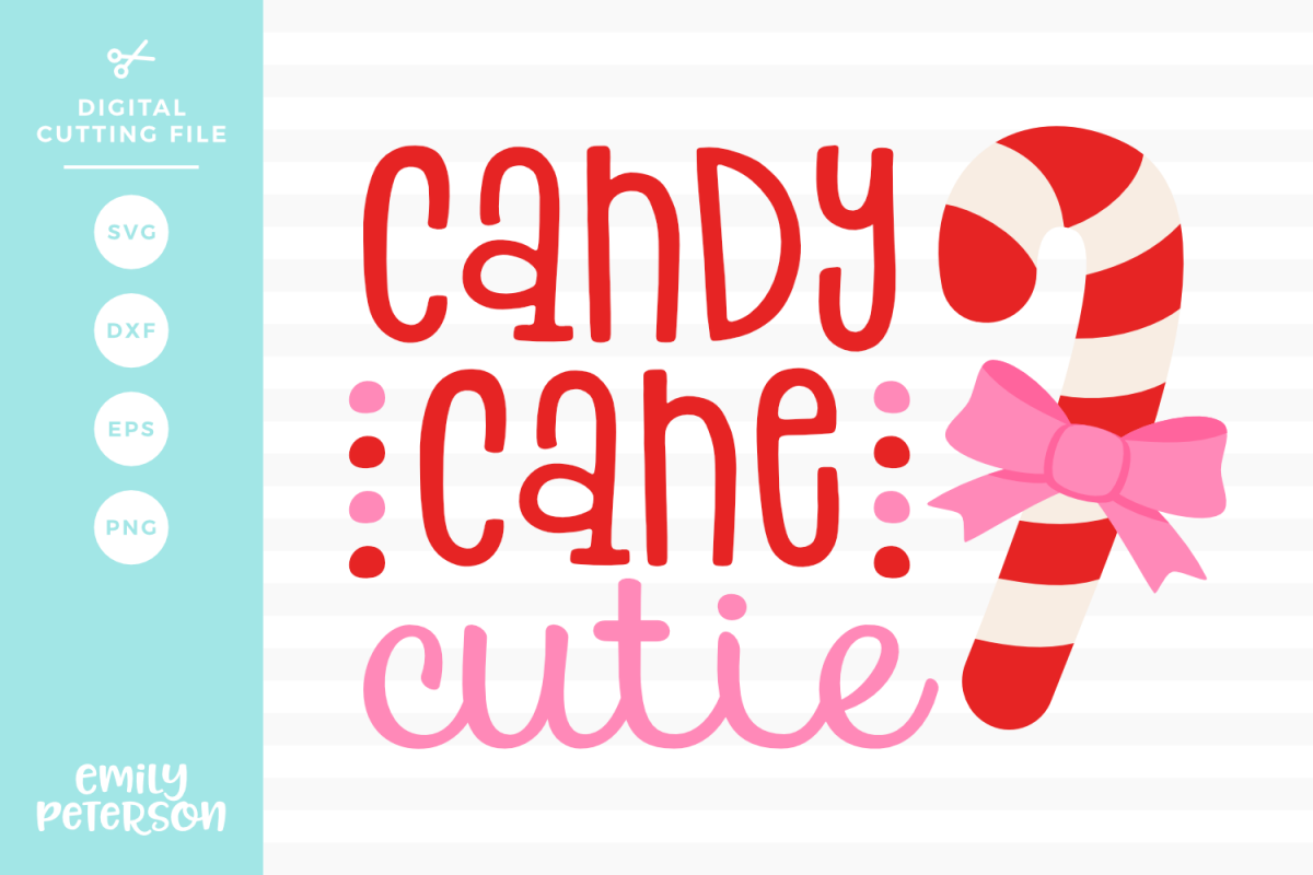 Candy Cane Cutie SVG DXF EPS PNG example image 1