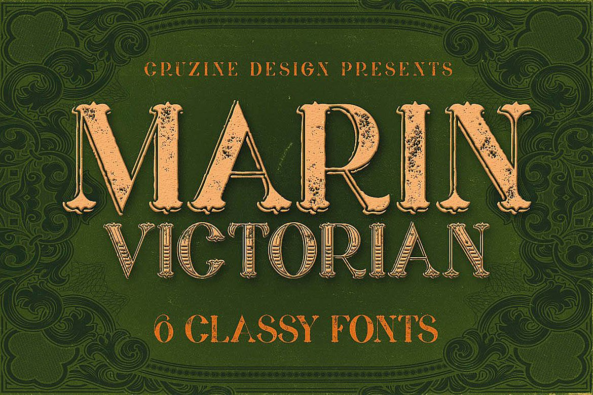 Marin - Victorian Font example image 1