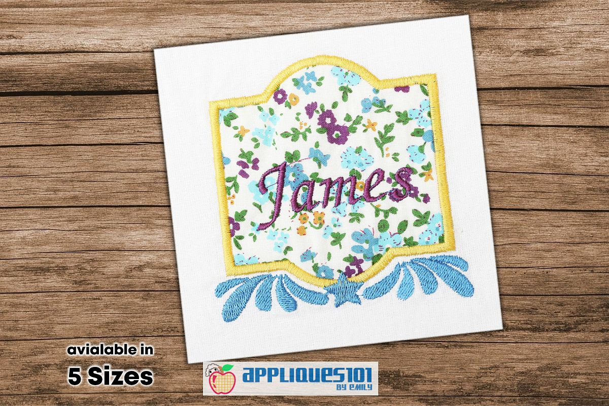 Name Frame Machine Embroidery Applique Design - Names example image 1