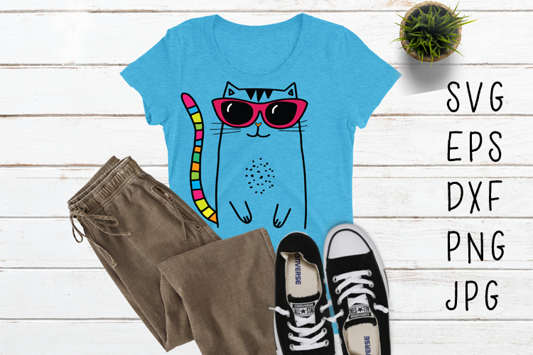 Cool Cat SVG example image 1