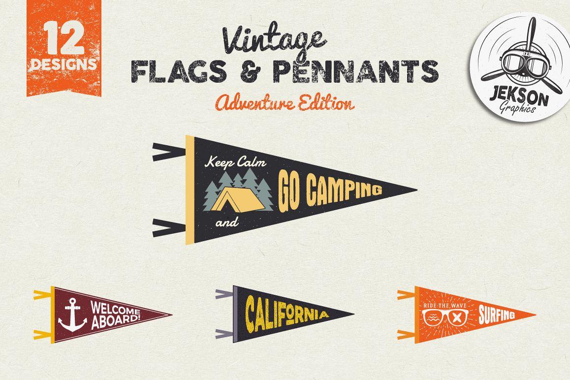 Adventure Pennants & Vintage Flags example image 1