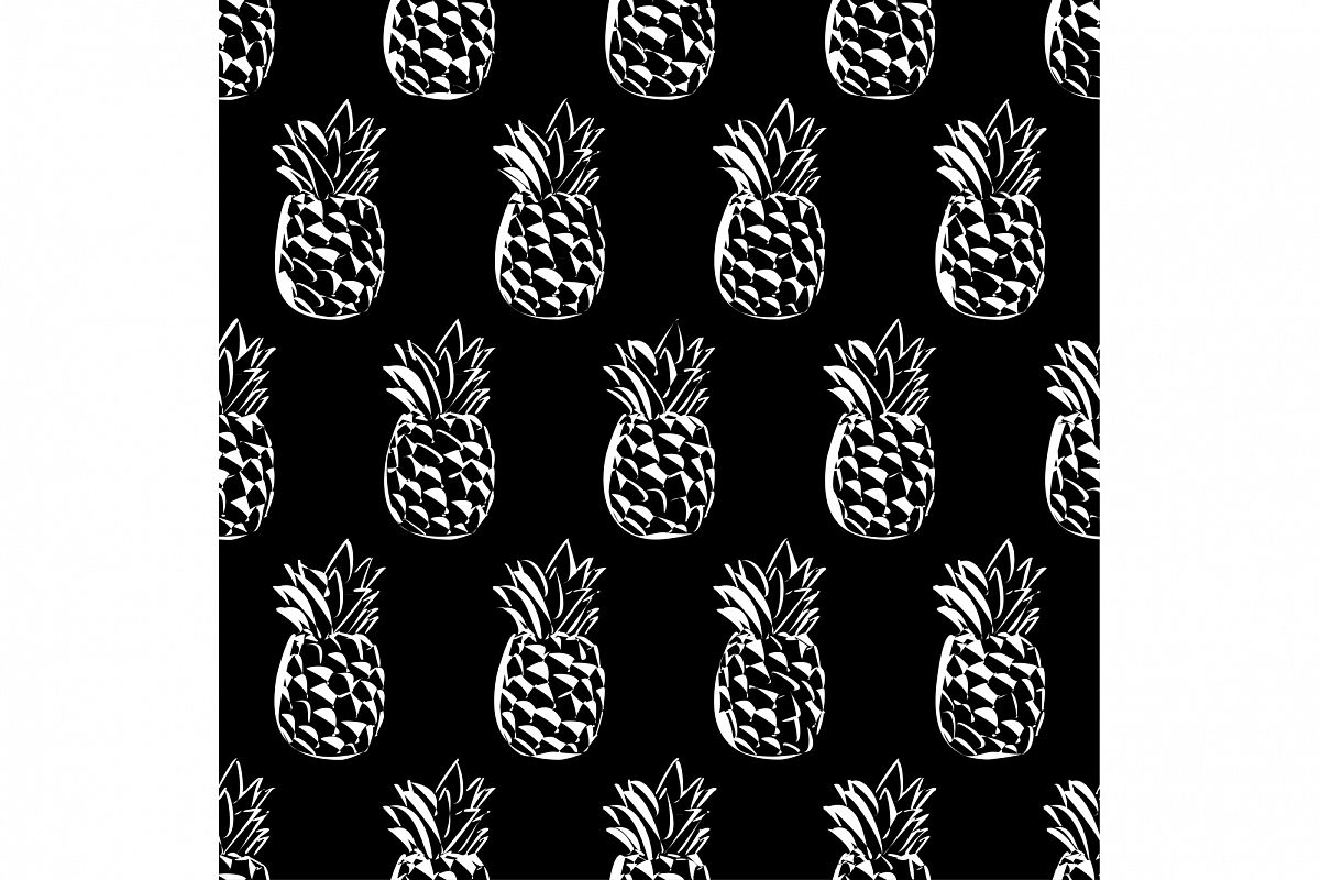 Ethnic boho seamless pattern with pineapples. Print. Repeating background. Cloth design, wallpaper. example image 1