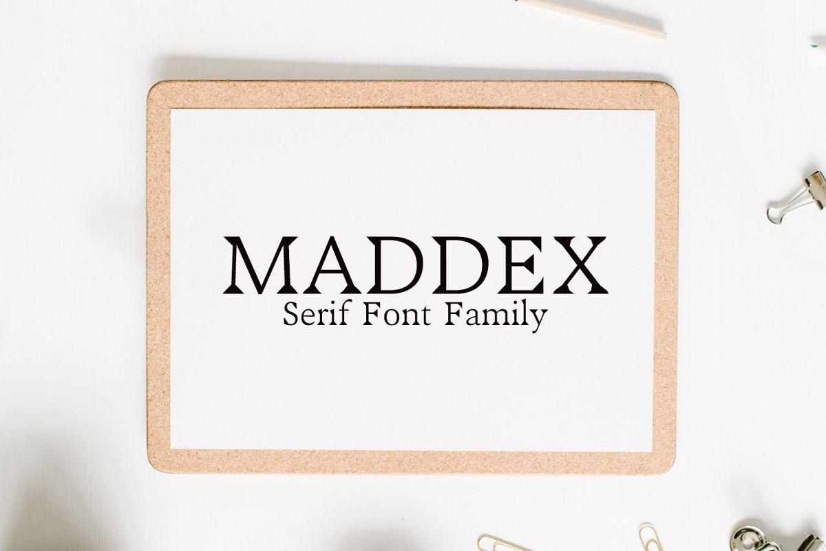 Maddex Serif Premium Font Family example image 1